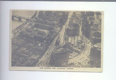 Real Photo The Strand & Aldwych London Aerial View From A Airco Machine 1920