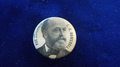 Celluloid Stud for C.A. Ramsdell for Governor of New Hampshire 1894 Pinback