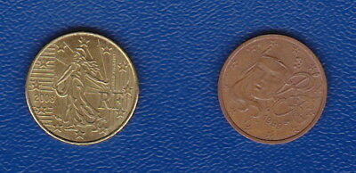 FRANCE - (SET) UNC 10 Euro Cent and CIRC 2 Euro Cent  - Euro Generation Coins