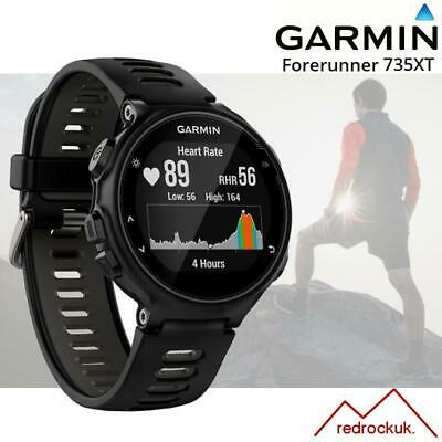 Garmin Forerunner 735XT Multisport GPS Watch with integrated HRM - Black/ Grey