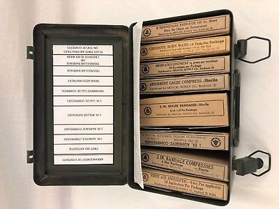 Very Cool - Vintage BELL SYSTEMS FIRST AID KIT TIN with contents
