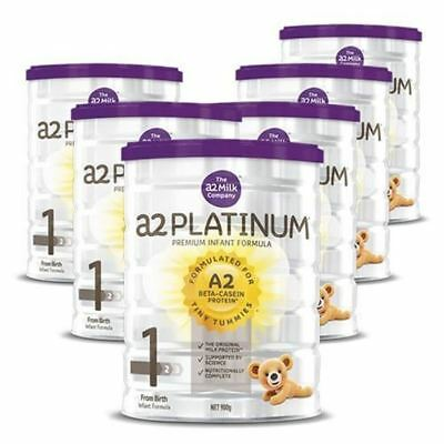 6x Brand New A2 Platinum Stage 1 Infant Baby Formula Milk Powder 900g