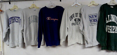 LOT OF 10 VINTAGE 80s 90s CHAMPION REVERSE WEAVE SWEATSHIRTS GRAY COLLEGE ADULT