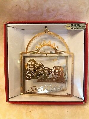 Vintage Nation's Treasures South Dakota Brass Ornament State Landmarks