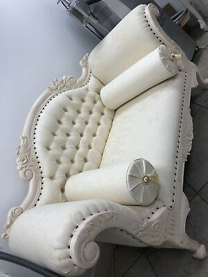 Setter Sofa Couch Vintage French Ivory