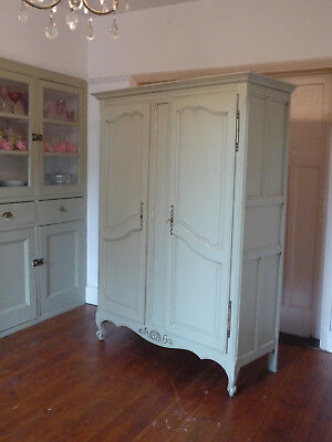 Painted knockdown Louis VX Style French Armoire