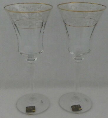 2 MIKASA Crystal ANTIQUE LACE Water Glass or Wine Goblet Set of TWO (2)