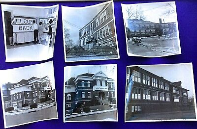 Historic East Rutherford, Nj  High School Pre And Post Fire Photo Lot Of 14*rare