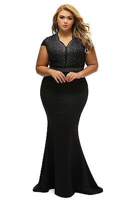 bdff0d104db Womens Plus Size Formal Evening Gala Party Cocktail Ball Gown Long Wedding  Dress
