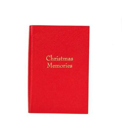 "Leather Notebook, 6 by 4 | Crossgrain | ""Christmas Memories"""