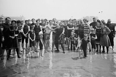 New 4x6 Photo: Old Bathing Suits, The Beach at Atlantic City, New Jersey - 1900