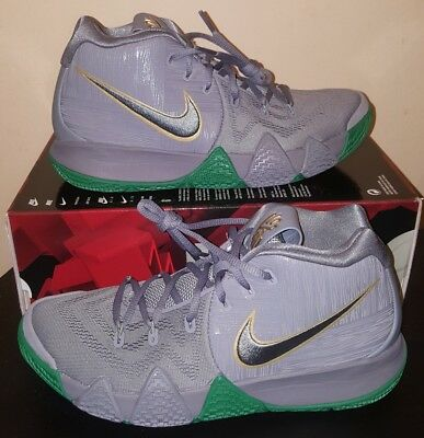 sports shoes 9786c 126f3 NIKE KYRIE 4 City Of Guardians Celtics Green Gray Basketball Shoe 10.5
