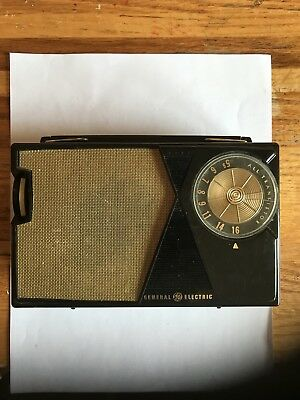 Early Working!  1962 General Electric Model P-807-G Transistor Radio