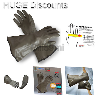 Extreme Cold Weather PVC Coated with Thinsulate Lined Decoy Hunting Gloves, 3...