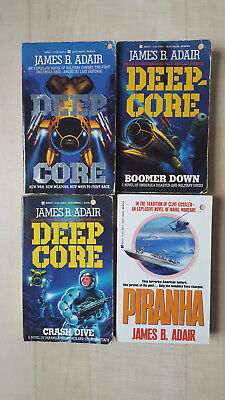 Collection of 4 James B. Adair Books Volumes 1-3 Deepcore & Piranha
