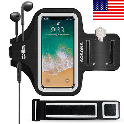 Waterproof Fingerprint Touch Sports Gym Armband Case+Extension Strap for iphone
