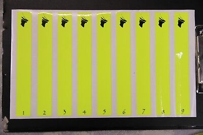 "0952 VINYL HD ARROW WRAPS P-FLAMING TARGET 0.75/"" WIDE 7/"" LONG 12 PACK"