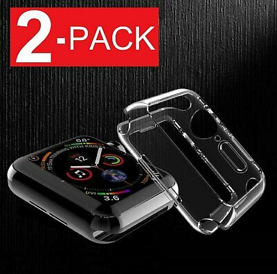 For Apple Watch Series 4 40mm/44mm Slim Full Body Clear Soft TPU Case Cover