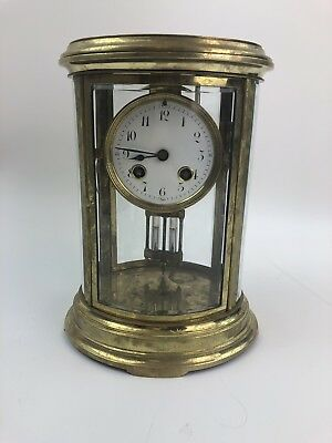 French Bronze Clock Signed H & H Made in France