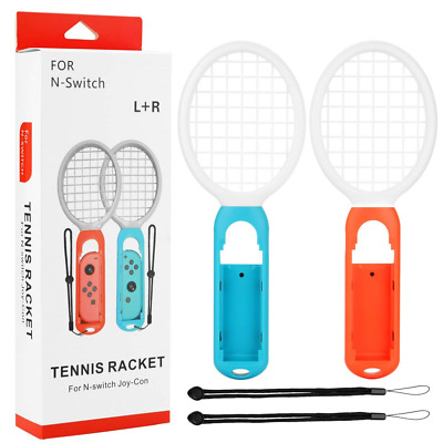 Tennis Racket for Nintendo Switch Joy-Con Controllers Mario Aces Games One Pair
