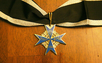 """GERMAN IMPERIAL BLUE MAX MEDAL """"Pour Le Merite"""" HIGH QUALITY 2-SIDED"""