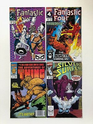 Lot of 4 Fantastic Four 343, 357; Adventures of Thing 1 (of 4); Silver Surfer 40