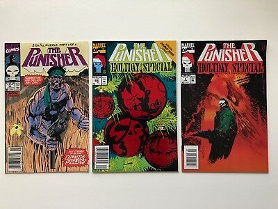 Lot of 3 Marvel Comics The Punisher #39 and The Punisher Holiday Special #1 & #2