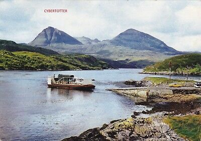 RP postcard of The Kylesku ferry and Quinag Sutherland Scotland