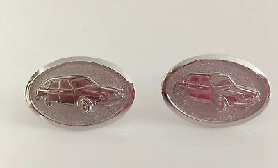 Vintage Sterling Silver Cuff Links With Audi Car Image