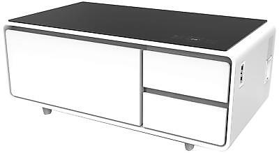 Refrigerator Coffee Table.Coffee Table W Refrigerator Drawer Bluetooth Speakers Led Lights Usb Charge Port