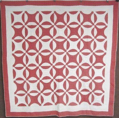 Country Red Christmas! c 1900 Rob Peter ANTIQUE Quilt Farmhouse 77 x 74