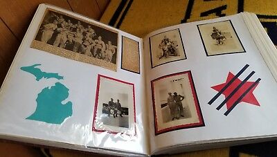 WW2 Scrapbook Of Letters Photos Ads From Soldier To Parents Selfridge AFB Mich