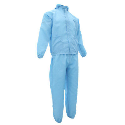 Washable Coveralls Painters Protective Overalls Working Suit Dressing Blue L