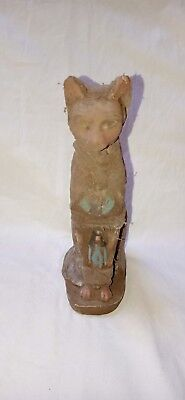 Rare Ancient Egyptian Antique Bastet Goddess Pharaoh Cat Statue Egypt Stone 945