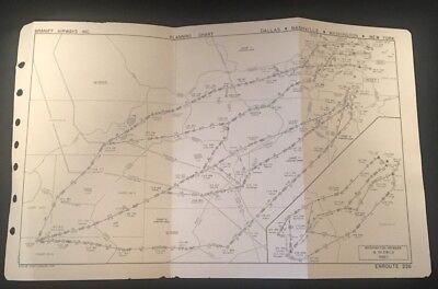 Braniff Airways Planning Chart Enroute 226