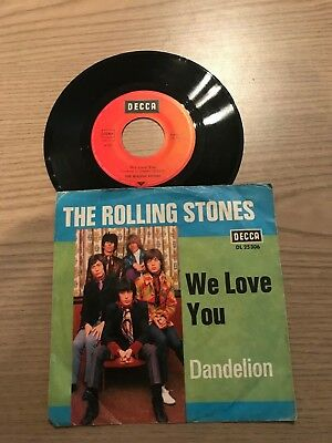 "7"" Single: The Rolling Stones - We love you / Dandelion"