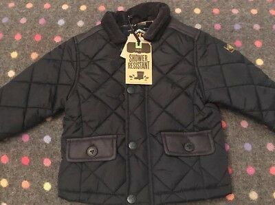 Next Boys quilted winter Coat 6-9 Months Bnwt