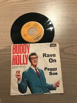"7"" Single: Buddy Holly - Rave on / Peggy Sue"
