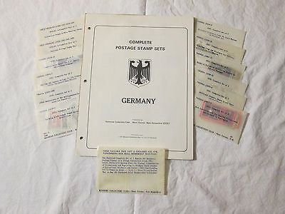 125 Vintage Postage Stamps from Russia, West Germany, and Germany.
