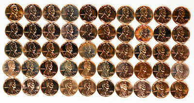 1963 Lincoln Memorial Cent Penny 1C Gem Proof Full Roll 50 Coins