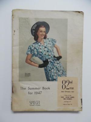 1947 Spiegel Summer Book Catalog Atomic Age Fashion Housewares Vintage Chicago