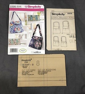 Simplicity Sewing Pattern 2205 Sweet Pea Design Purses Totes Bags Handbags Uncut
