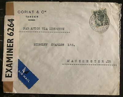 1941 Tanger Morocco Agencies Airmail Censored cover To Manchester England