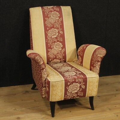 Armchair italian furniture chair living room style Guglielmo Ulrich fabric 900