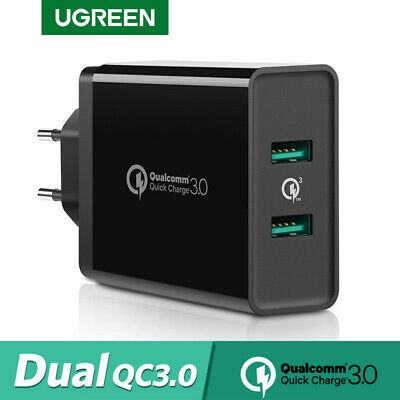 UGREEN Quick Charge 3.0 2.0 USB Wall Charger Adapter for iPhone X Huawei Samsung