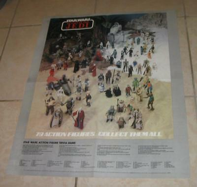 1984 Vintage Star Wars Return Of The Jedi 79 Figures Advertising Poster Rare