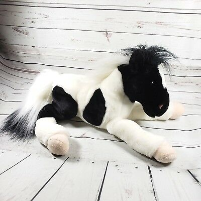 """Animal Alley 18"""" Black and White Horse 2000 Toys R Us Plush"""