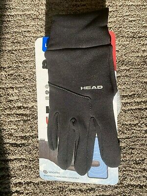 New Head Mens Ultrasfit Running Gloves with Touchscreen Black- Large