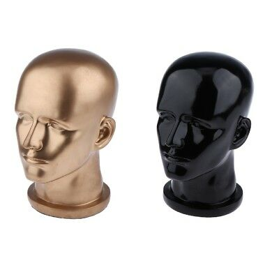 2x 12'' Male PVC Mannequin Head Manikin Model Hat Toupee Display Stand Rack