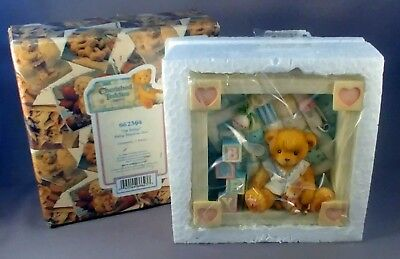 "Cherished Teddies # 662364 ""Oh Baby"" Baby Shadow Box NEW"